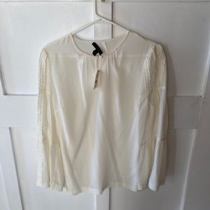 NWT J. Crew off white silk blouse
